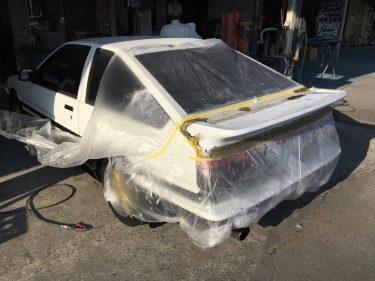 トヨタ トレノAE86 エアロパーツ修正