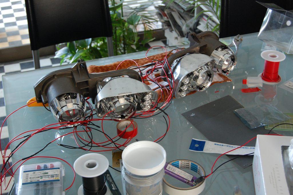 インテグラ ヘッドライトカスタム プロジェクター埋め込み
