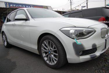 BMW: フロントバンパー部分補修