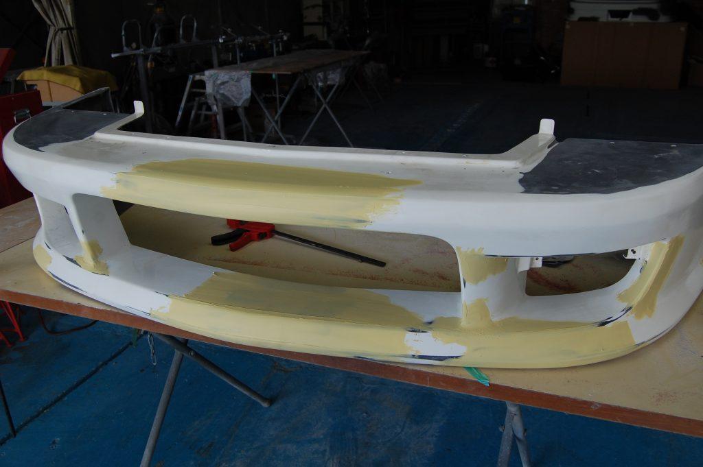 180SX エアロパーツ修理