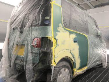 ダイハツ:タント 右側面損傷:板金修理