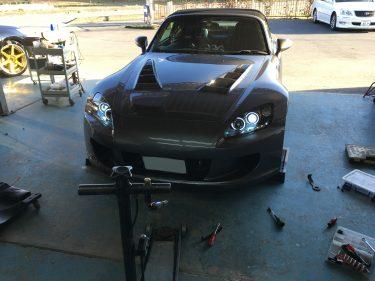 ホンダ:S2000 ヘッドライトカスタム イカリングヘッドライト