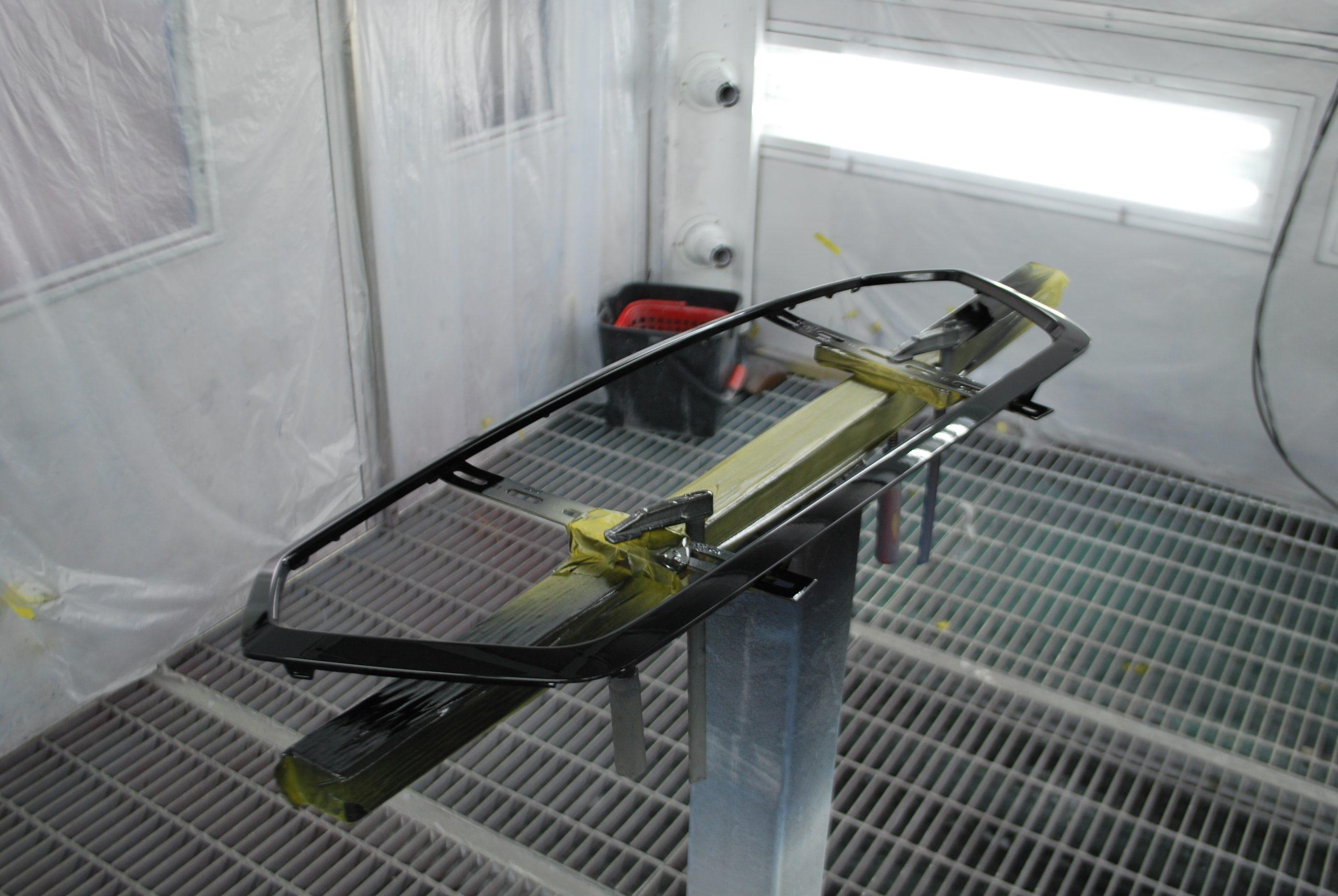 レガシィ フロントグリル マットブラック塗装