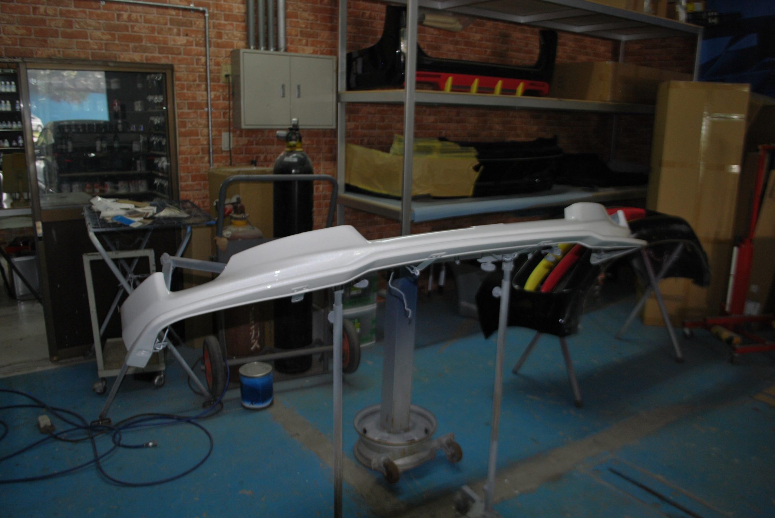 マークX TRD スポイラー修理