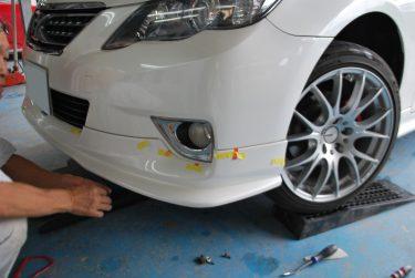 トヨタ:マークX TRDフロントスポイラー破損:修復修理