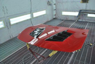 トヨタ:86 社外 ダクトボンネット塗装